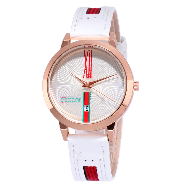 Modor Haute Couture White Fashionista's Watch For Women & Girls