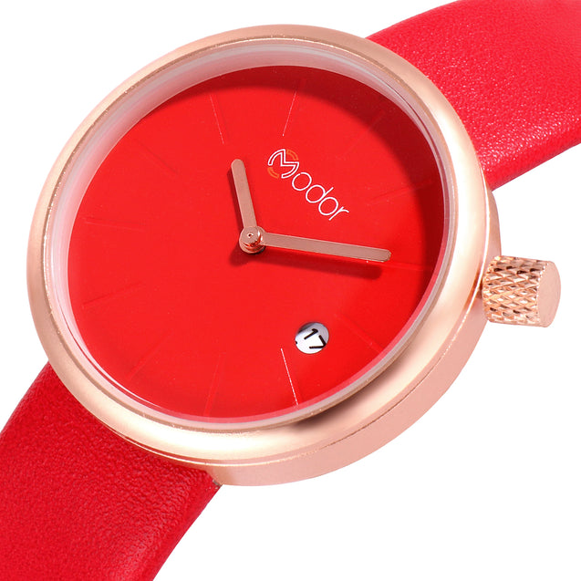 Modor Show Stopper Red Ramp Walker's Watch For Women & Girls