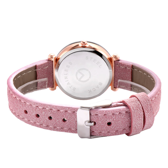 Modor Queen of Crystal Pink Sparkly Dial Watch For Women & Girls