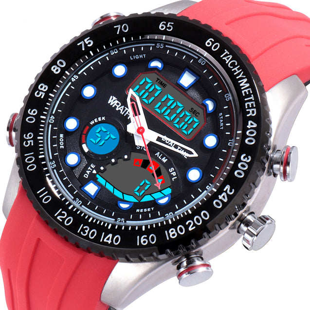 Wrath Ripe Red Sports Analog & Digital Luxury Watch For Men & Boys