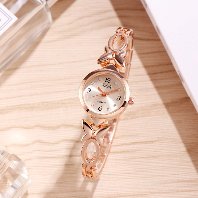 Addic Butterfly Vs Bowtie Stuningly Crafted Rose Gold Watch For Women & Girls