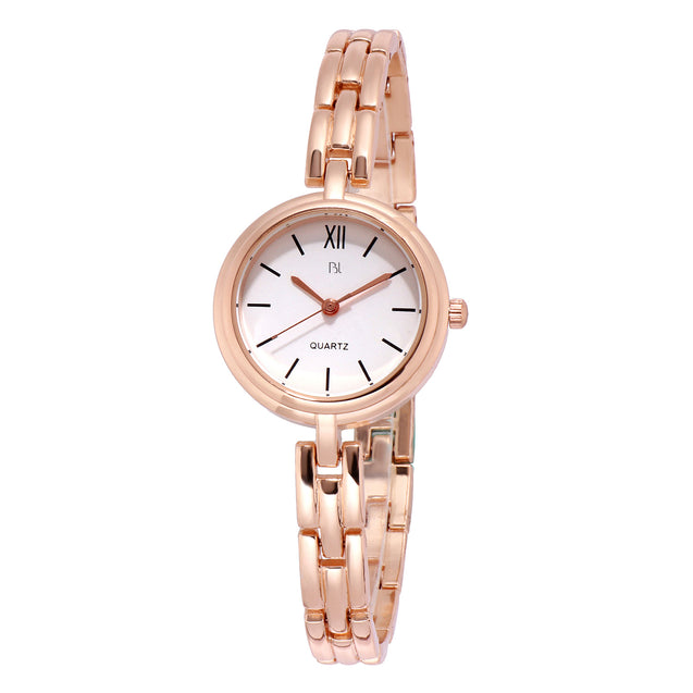 Addic BL Blodly Tiled Chain Rose Gold Watch for Women & Girls.