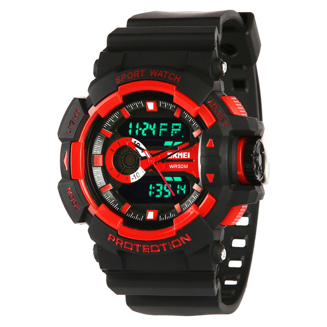 Skmei Double Movement Multi-functional Analogue+Digital Boys & Men's Watch