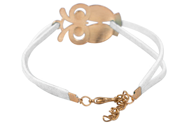 Addic Owl Lucky Charm Bright White Bracelet