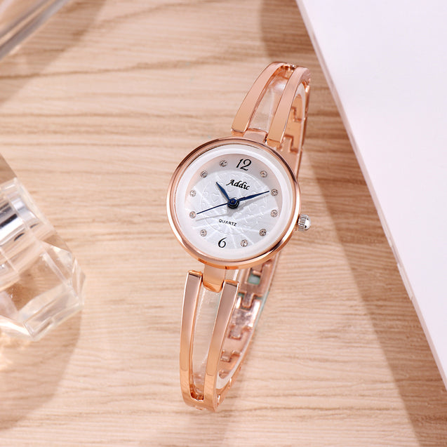 Addic A Sprinkle of Hearts Rose Gold Watch For Women & Girls