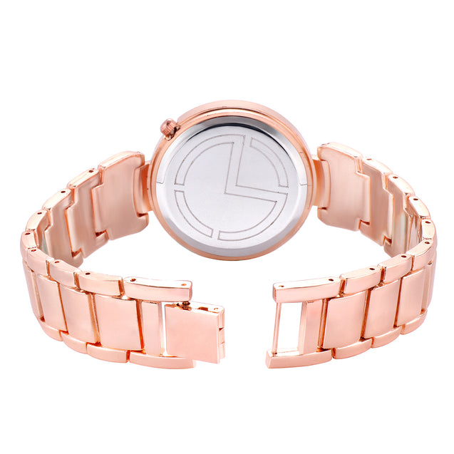 Modor Classic Charms Rose Gold Party Wear Watch For Women & Girls