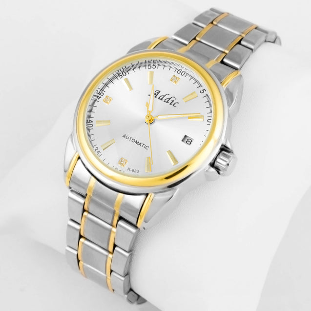 Addic Elegenant & Classy Gold Lined Men's Mechanical Watch