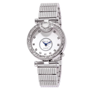 Modor Modern Classy Silver & Blue Formal / Casual / Party Wear Multi Purpose Wrist Watch For Women & Girls