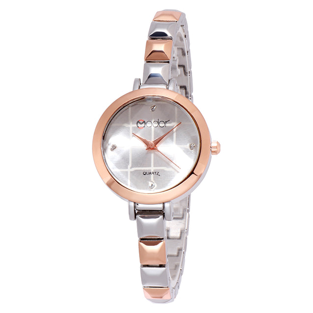Modor Chunks Of Charm Dual Hues Formal / Casual / Party Wear Multi Purpose Wrist Watch For Women & Girls