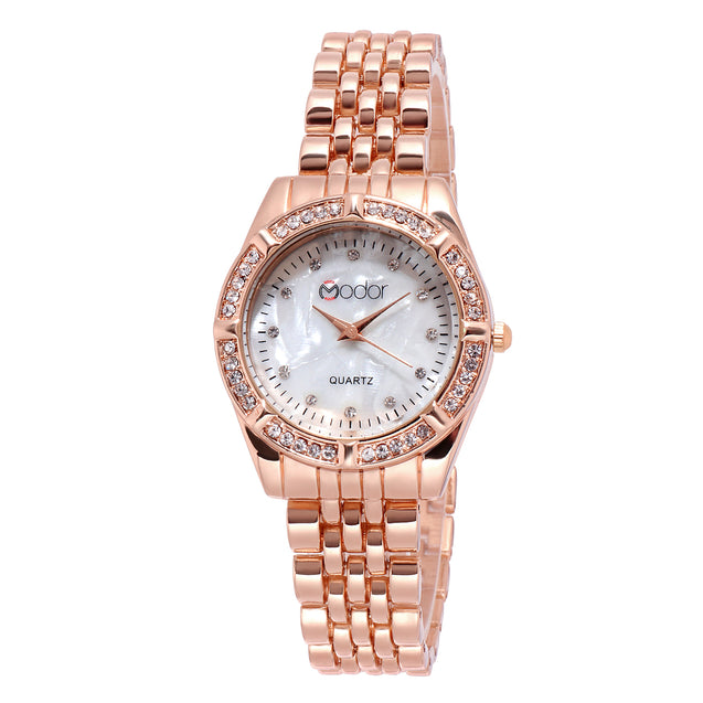 Modor Royal Elegance Rose Gold Dial Formal / Casual / Party Wear Multi Purpose Wrist Watch For Women & Girls