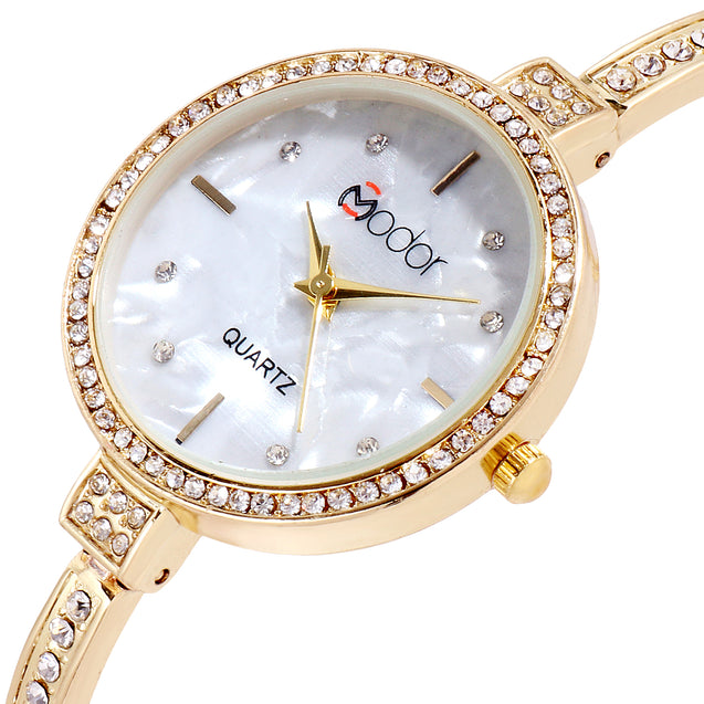 Modor Princess Jewels Gold Formal / Casual / Party Wear Multi Purpose Wrist Watch For Women & Girls
