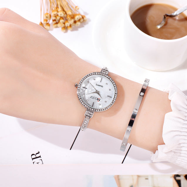 Modor Princess Jewels Silver Formal / Casual / Party Wear Multi Purpose Wrist Watch For Women & Girls