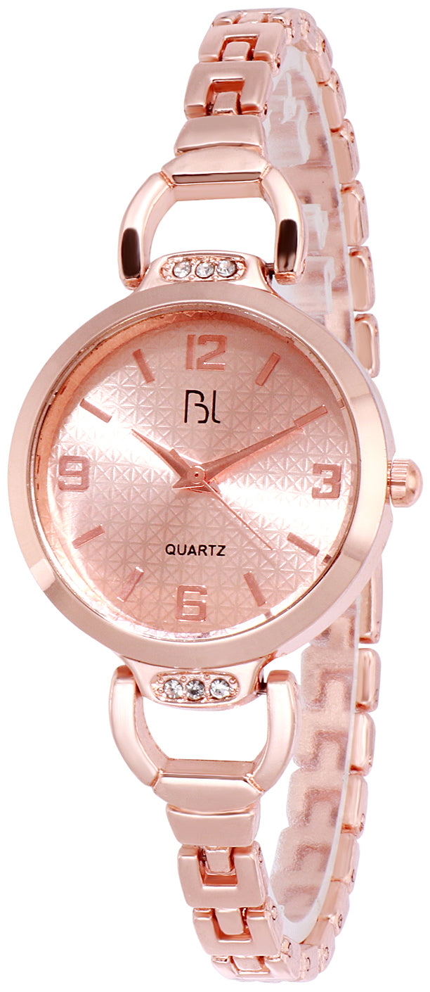 Addic BL Graceful Locks Rose Gold Wrist Watch for Women & Girls.