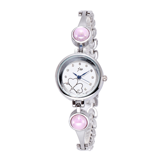 Addic Patakha In Pink Crystals Silver Watch For Women & Girls