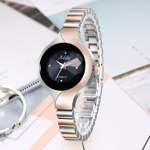 Addic Uber Cool Designer Dual Tone Silver & Rose Gold Girls & Women's Watch.