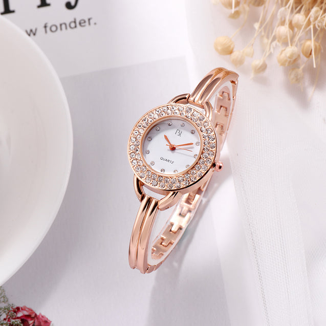 Addic BL Twinkle Stars Studded Rose Gold Watch for Women & Girls.