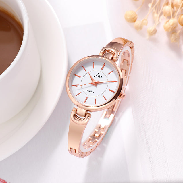 Addic Classy Metal Band Rose Gold Formal / Casual / Party Multi Purpose Watch For Women & Girls