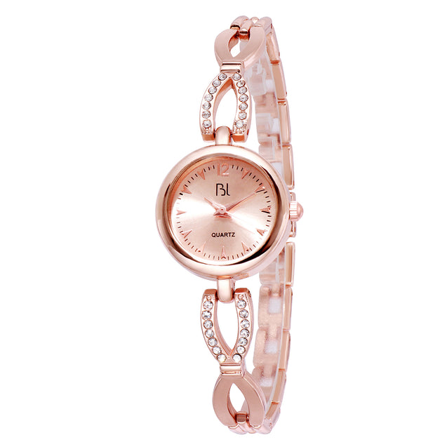 Addic BL Minimal Bling Rose Gold Wrist Watch for Women & Girls.