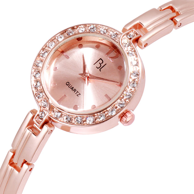 Addic BL Elegant & Stunning Rose Gold Wrist Watch for Women & Girls.