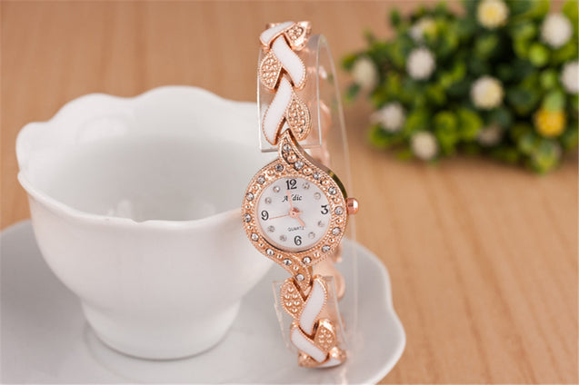Addic An-Elegant-Persona Rose Gold & White Girls & Women's Watch