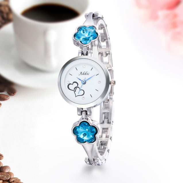Addic Mermaid-Blossoms Silver Girls & Women's Watch