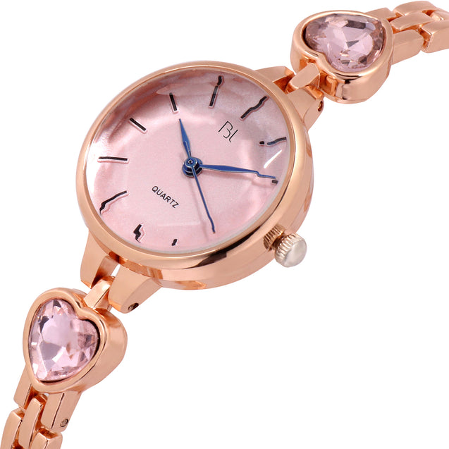 Addic BL Blushes Pink Rose Gold Watch for Women & Girls.