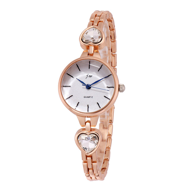 Addic Crystal Clear Rose Gold Formal / Casual / Party Multi Purpose Watch For Women & Girls