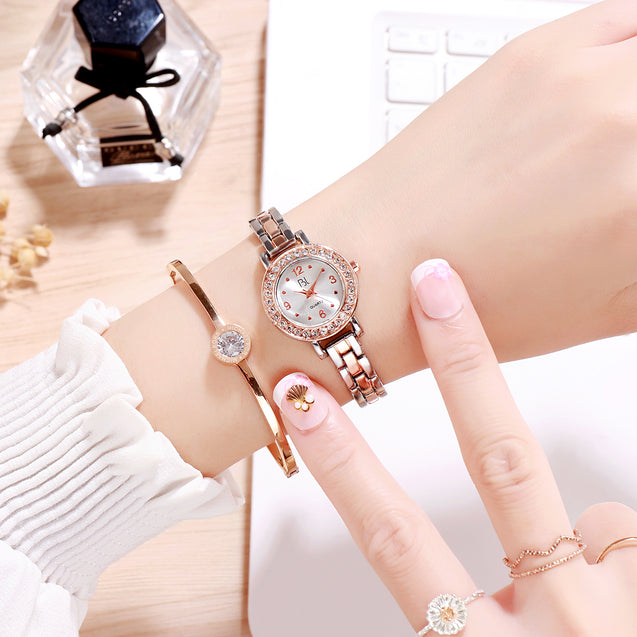 Addic BL Lively Lady Dual Tone Rose Gold & Silver Wrist Watch for Women & Girls.