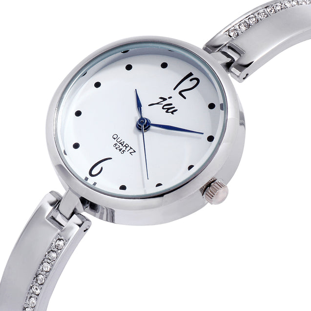 Addic The Bling Class Silver Formal Cum Party Watch For Women & Girls