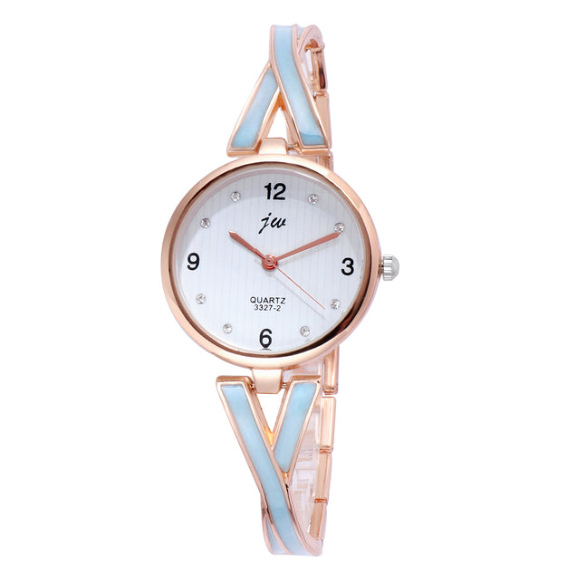 Addic Criss Cross Classy Looks Blue Formal / Casual / Party Multi Purpose Watch For Women & Girls