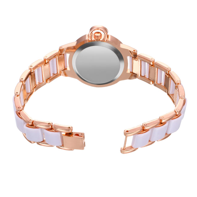 Addic Royal Ceramic Beauty Crystal Studded Watch for Girls & Women's.