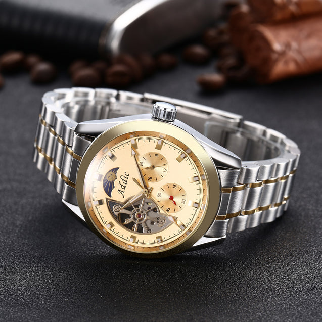 Addic Knight's Armour Luxury Mechanical Watch (Without Battery For Life!)