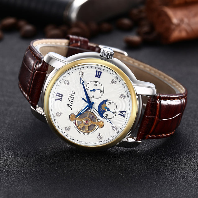 Addic Presidential Luxury Mechanical Watch (Without Battery For Life!)