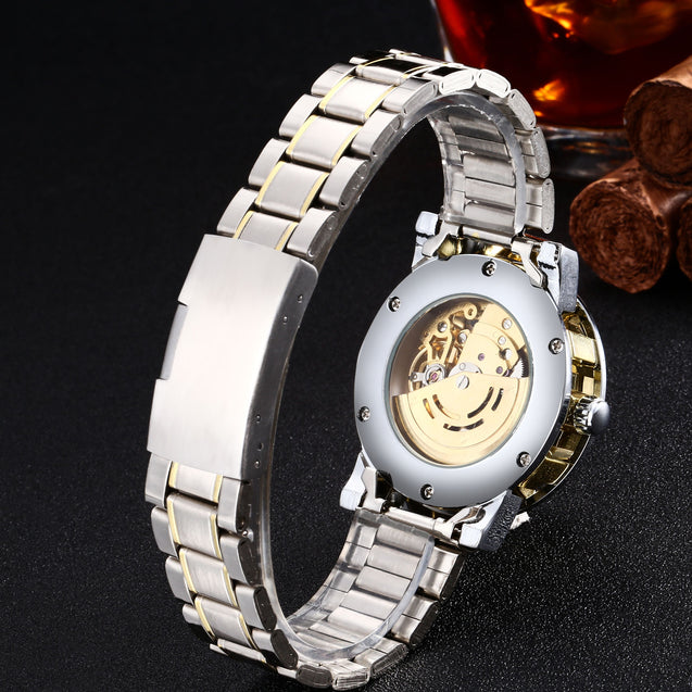 Winner Luxury Metal Chain Mechanical Watch for Men! (Without Battery for Life!)