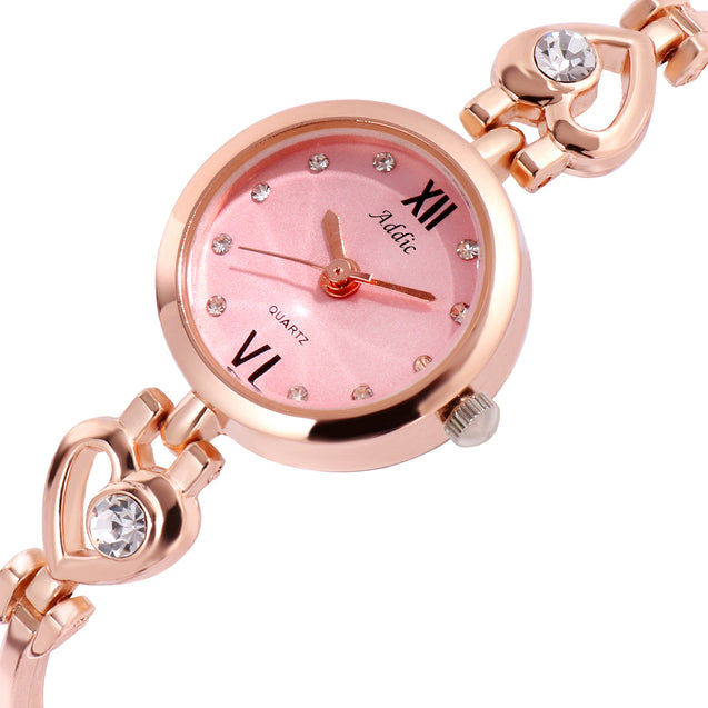 Addic Lovely Looks Pink Dial Watch for Women & Girls (8344)