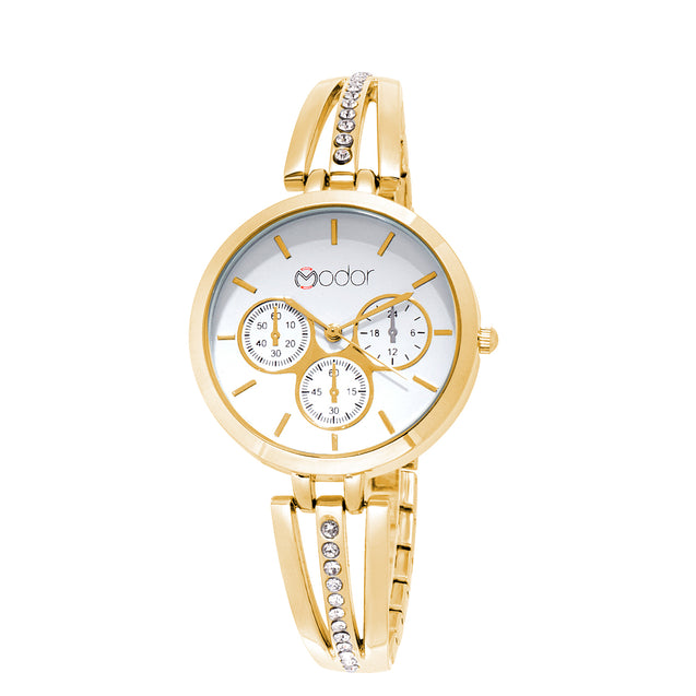 Modor Fashionista Gold Wrist Watch For Women & Girls