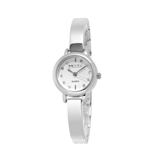 Modor Classic Charms Silver Color Party Wear Watch For Women & Girls