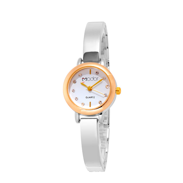 Modor Chunks Of Charm Dual Hues Wrist Watch For Women & Girls