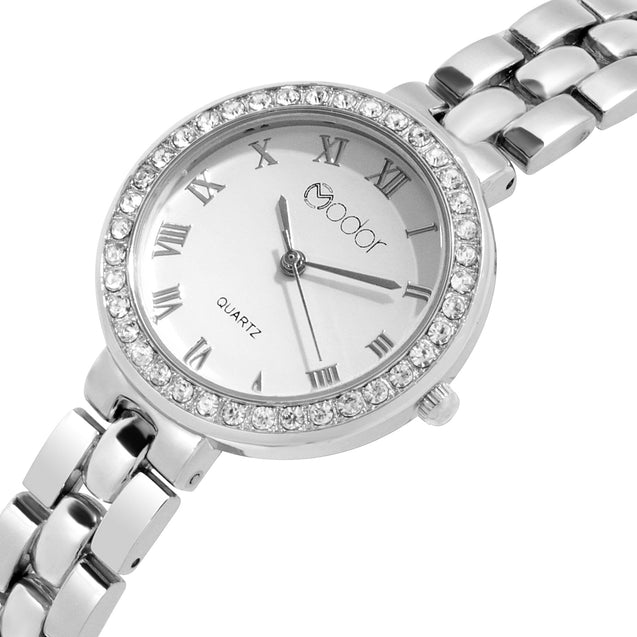 Modor Modern Hues Silver Wrist Watch For Women & Girls