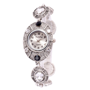 French Loops Tribal Jewel Studded Ethnic Party Wear Bracelet Watch