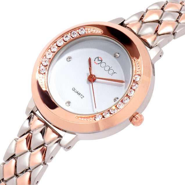 Modor Princess Jewels Dual Color Wrist Watch For Women & Girls