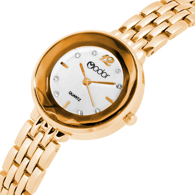 Modor Bling It On Gold Studded Chain Watch For Women & Girls
