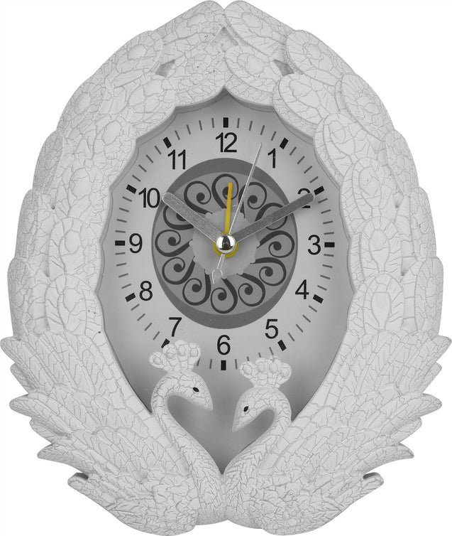 Addic Stunning Peacock Serene Table Clock With Alarm (Alarm Clock For Bedside, Study Table, Home Decor & Gifts)