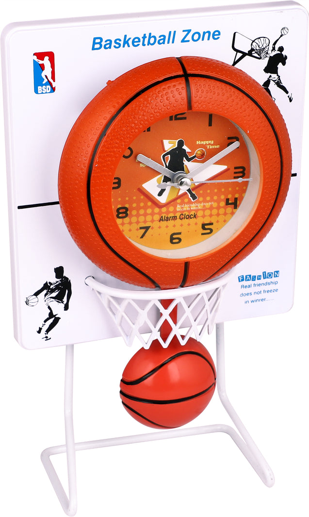 Addic Basketball Madness Working Pendulum Table Clock With Alarm (Pendulum Alarm Clock For Bedside, Study Table, Home Decor & Gifts)