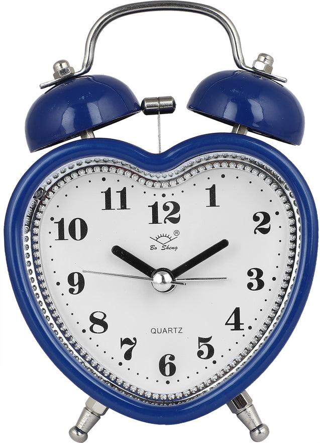 Addic Love Retro Modern Fusion Cute Blue Table Clock With Alarm (Alarm Clock For Bedside, Study Table, Home Decor & Gifts)