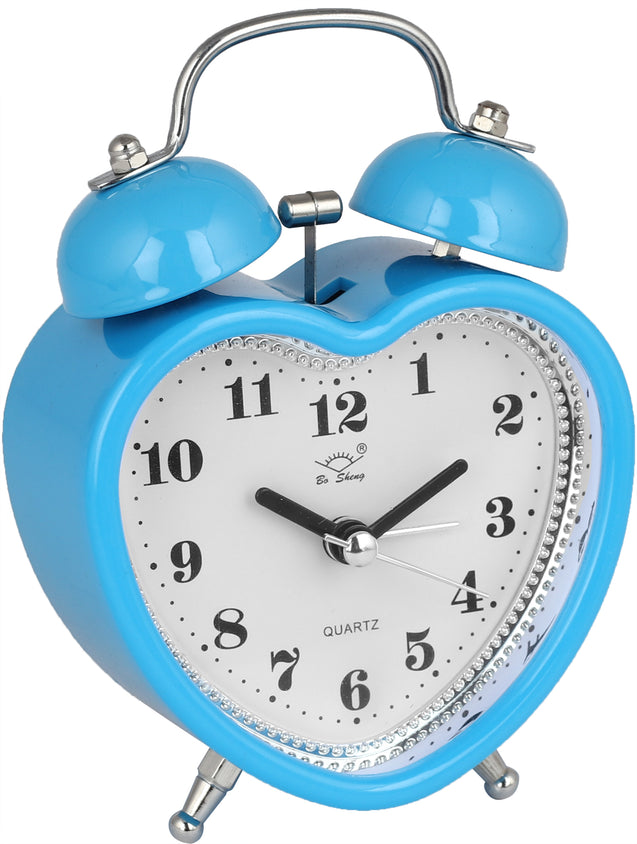 Addic Love Retro Modern Fusion Cute Sky Blue Table Clock With Alarm (Alarm Clock For Bedside, Study Table, Home Decor & Gifts)