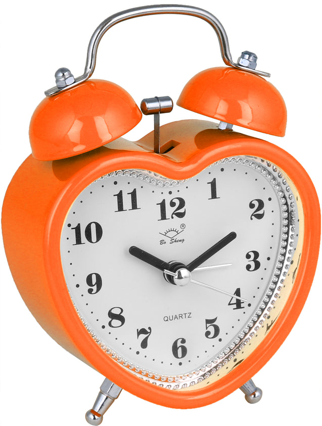 Addic Love Retro Modern Fusion Cute Orange Table Clock With Alarm (Alarm Clock For Bedside, Study Table, Home Decor & Gifts)