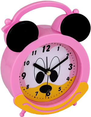 Addic Joyful Mouse Cute Pink Table Clock With Alarm (Alarm Clock For Bedside, Study Table, Home Decor & Gifts)
