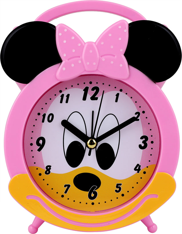 Addic Happy Mouse Cute Pink Table Clock With Alarm (Alarm Clock For Bedside, Study Table, Home Decor & Gifts)