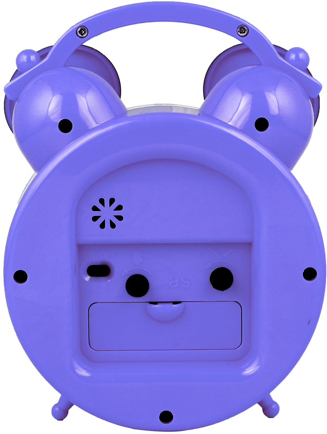 Addic Joyful Mouse Cute Blue Table Clock With Alarm (Alarm Clock For Bedside, Study Table, Home Decor & Gifts)